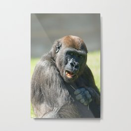Happy Gorilla Lope Metal Print