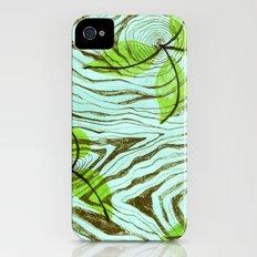 Blue tree bark iPhone (4, 4s) Slim Case