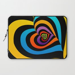 Valentine hearts twirling in rainbow colors Laptop Sleeve
