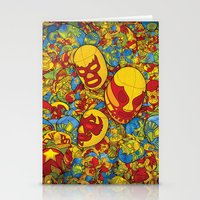 mucha Stationery Cards featuring Mucha Lucha by Guilherme Marconi