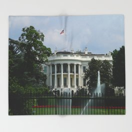 South Portico of the White House Washington DC Throw Blanket