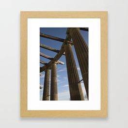 Columns Reaching Up Framed Art Print