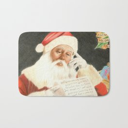 Letter to Santa Claus Bath Mat