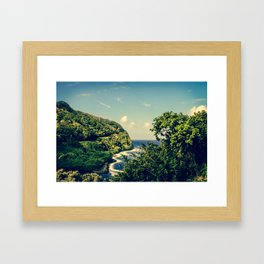 Honomanu Highway to Heaven Road to Hana Maui Hawaii Framed Art Print