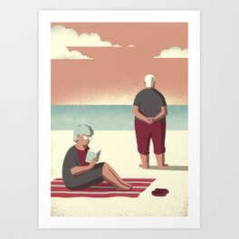 Day Trippers #10 - Sunset Art Print