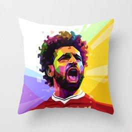 Mohamed Salah WPAP #2 Throw Pillow
