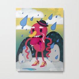 Drip Drop Metal Print