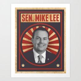 Senator Mike Lee Art Print