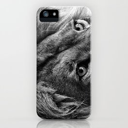 Themba the Lion (Black and White Version) iPhone Case