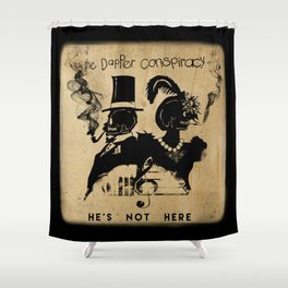 He's Not Here Deluxe Complete Shower Curtain