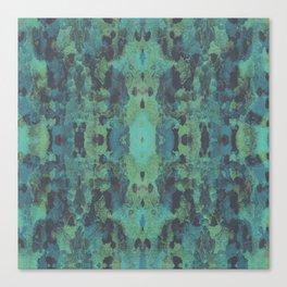 Sycamore Kaleidoscope - Graphite blue green Canvas Print