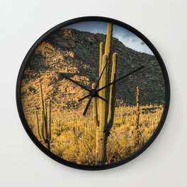 """Sonoran Desert Scene 10"" by Murray Bolesta Wall Clock"