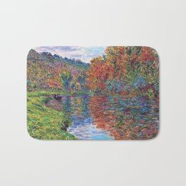 Le bras de Jeufosse, Autumn by Claude Monet Bath Mat
