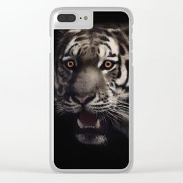 Hypnotized tiger Clear iPhone Case