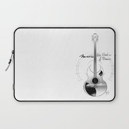 The acoustic guitar - Music, The Frontier of Dreams. Laptop Sleeve
