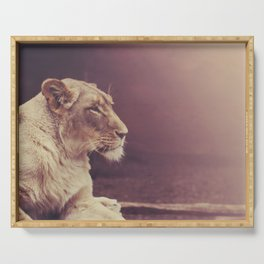 Lioness Serving Tray