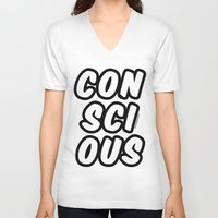 comic V-neck T-shirts featuring Comic by Conscious Panda