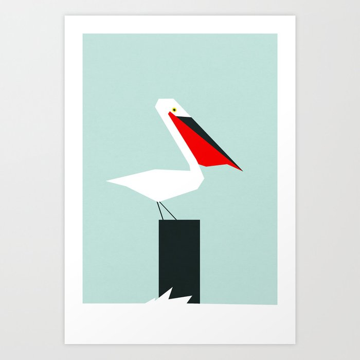 Discover the motif PELICAN by Yetiland as a print at TOPPOSTER
