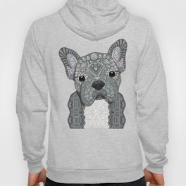 Gray Frenchie 001 Hoody