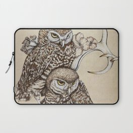 Duality - Two Burrowing Owls Laptop Sleeve