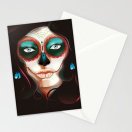 Painted Face Stationery Cards