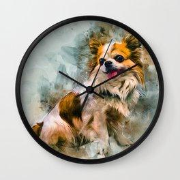 Chihuahua Art Wall Clock