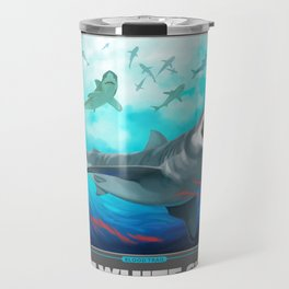 Great White Shark, World's Largest Predatory Fish Travel Mug