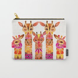 Giraffes – Fiery Palette Carry-All Pouch