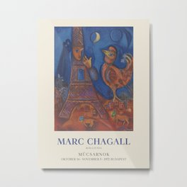 Marc Chagall. Exhibition poster for Palace of Art Műcsarnok in Budapest, 1972. Metal Print