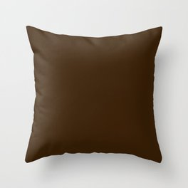 Simply Solid - Brunette Brown Throw Pillow