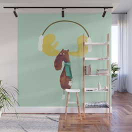This moose is ready for winter Wall Mural