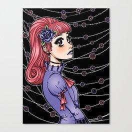Pink Hair Gothic Lolita Canvas Print
