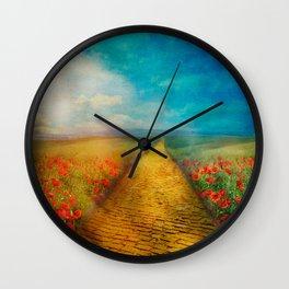 My Yellow Brick Road Wall Clock