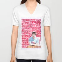 arctic monkeys V-neck T-shirts featuring Bigger Boys and Stolen Sweethearts - Arctic Monkeys by Frances May K