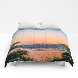 Between the Palms (Color) Comforters