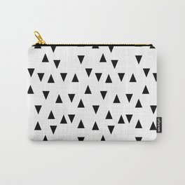 Triangles black and white modern design Carry-All Pouch