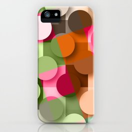dots & squares iPhone Case