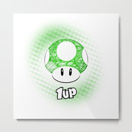 1-UP from Mario Metal Print