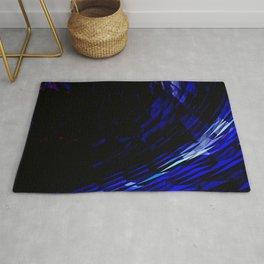 Indigo & Cobalt Blue Abstract Geometric Print Rug