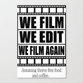 Filmmaker Canvas Print