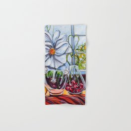 Diane L-  Fleurs en coeurs Hand & Bath Towel
