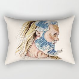 King of waves Rectangular Pillow