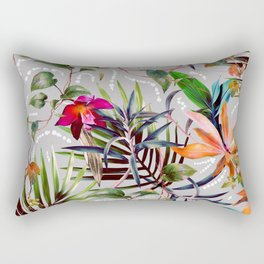 Wild Succulent Flowering Rectangular Pillow