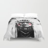 native american Duvet Covers featuring Native American by Maioriz Home