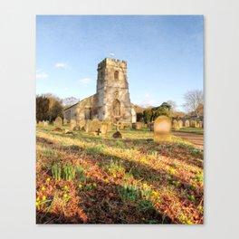 Spring Churchyard Canvas Print