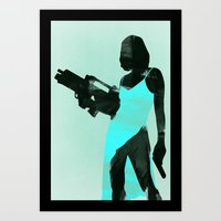 resident evil Art Prints featuring Resident Evil by LynxArtCollection