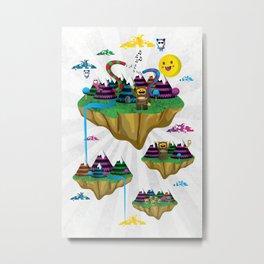 Islands in the Sky Metal Print
