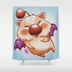 Moogle Fan Art Doodle Shower Curtain