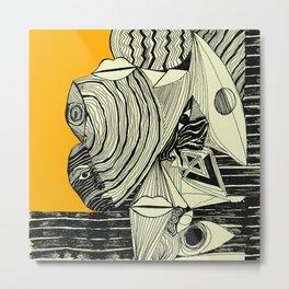 Body in Absraction 2 Metal Print