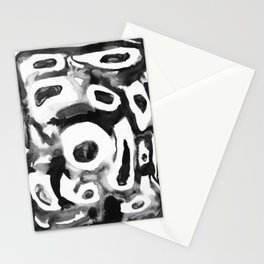 Moving round cells nanquim black and white Stationery Cards